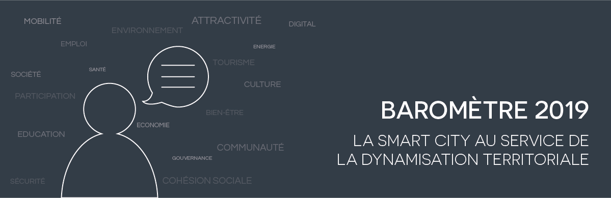 Bannière baromètre 2019 Smart City Institute