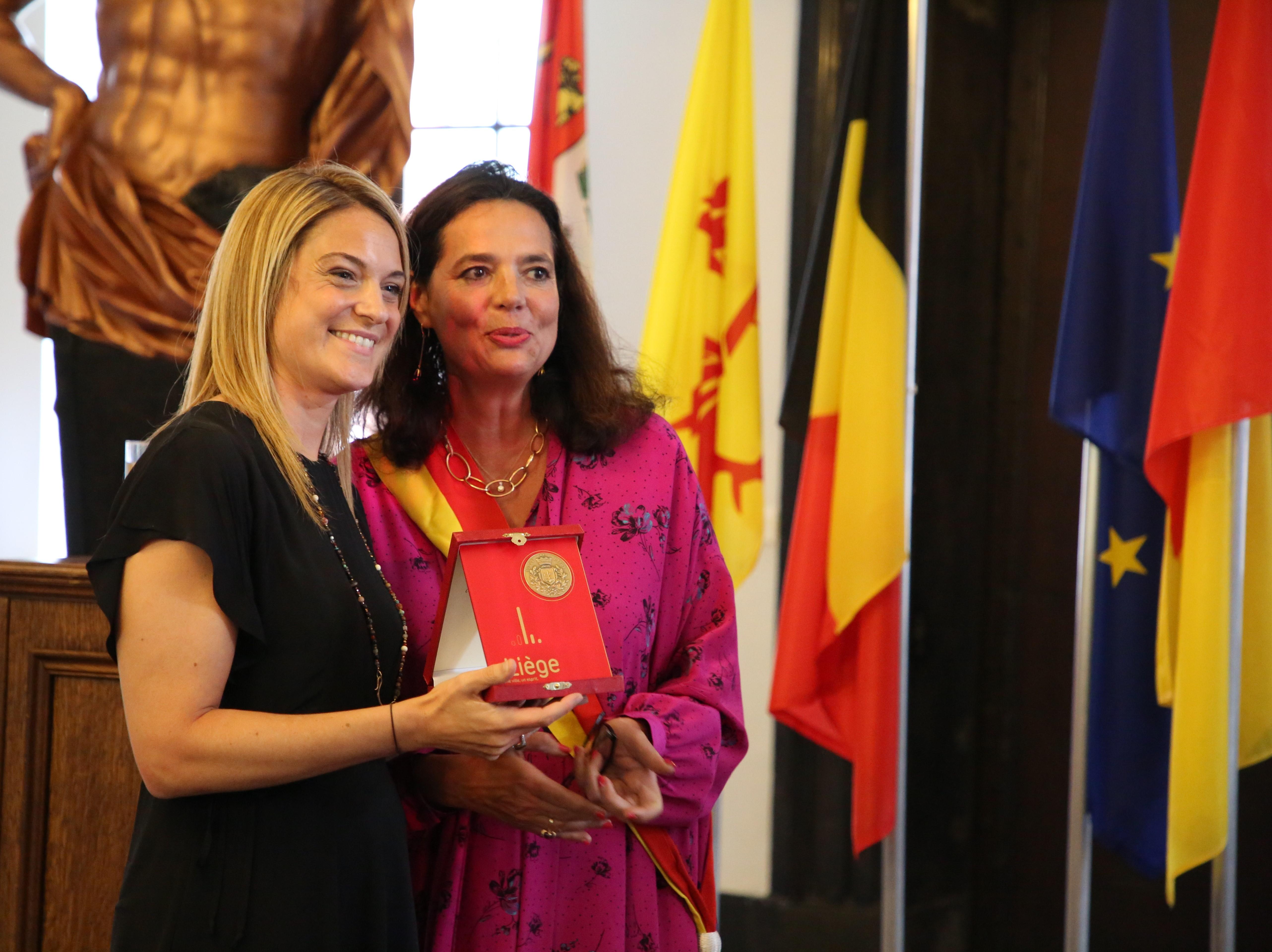 Nathalie Crutzen - citoyenne d'honneur Liege 2019
